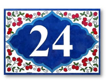 Redberries custom house numbers, Address plaque, Outdoor house sign, Personalized number sign, House numbers sign