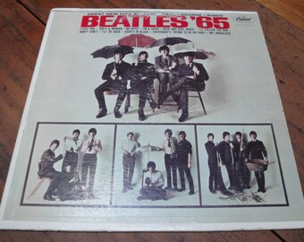 BEATLES '65 ALBUM, 1960s, Capitol Records T2228,  Vintage Sleeve and Vinyl Record, Beatlemania
