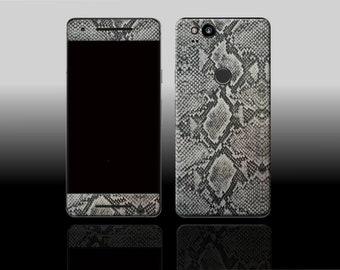 Google Pixel 2 Silver Python Phone Skin