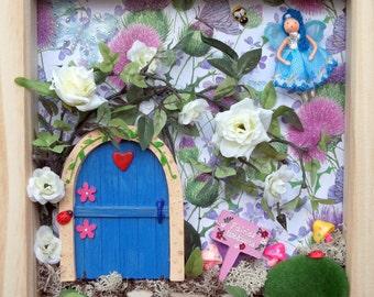 Fairy Door, Fairy Frame, Fairy Garden Wall Art, Secret Garden 3D Frame