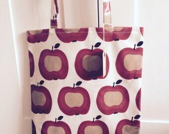 Retro print Oil cloth Shopper Tote Bag