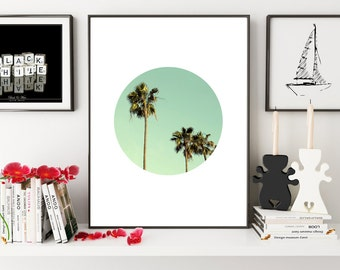 Palm Print, Palm Tree Print, California Wall Art, Palm Tree Art, Palm Wall Art, Tropical Art, Tropical Print, Tropical Wall Art, Wall Art