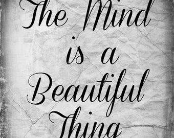 Beautiful Mind. Printable. 8x10. poster