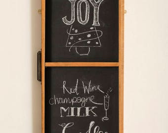 Vintage Typesetter's Tray Chalkboard, Restored & Ready To Hang, Noticeboard, Retro, Industrial, Shabby Chic