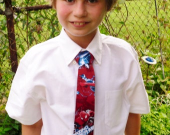 Spiderman Inspired Character Neck Tie for Boys
