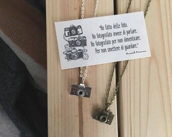 Photo Theme necklace with camera Pendant