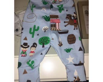 Cowboy and Cactus baby leggings