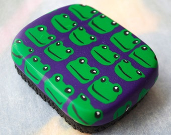 Frogs Metal Tin, Mini Box, Gift Box, Polymer Clay Box, Polymer Clay Metal Tin, Mom Gift, Gift for Her, Gift for Him