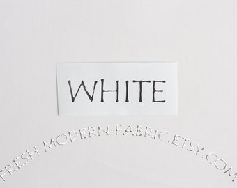One Yard White Kona Cotton Solid Fabric from Robert Kaufman, K001-1387