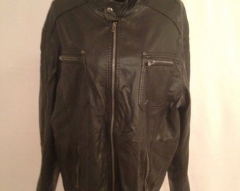ANGELA LITRICO ALCW black Vintage Leather Jacket