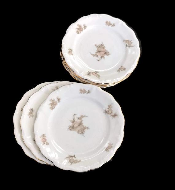 Vintage Haviland China Bread and Butter Plates Johann Haviland