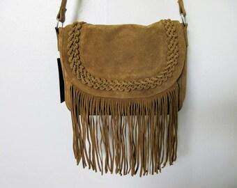 Western Suede Cross-body Bag