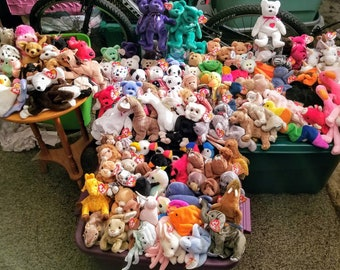 Retired Beanie Baby lot of 250+ rare, errors, sets, retired