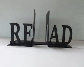 READ - Metal Bookends