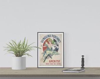 "Instant Downloadable Vintage Poster ""Quinquina Dubonnet"" from 1895"