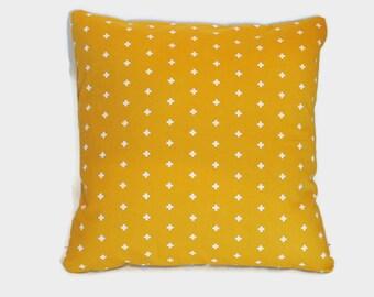 Gold geometric pillow cover - 20x20 pillow - Minimalist decor - Yellow throw pillow - Gender neutral nursery decor - Minimal  bedroom decor