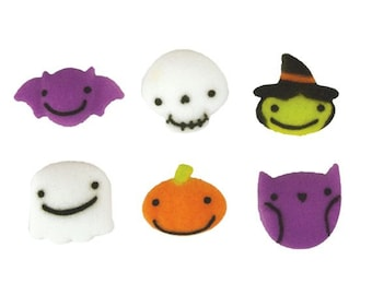 Frightful Friends Mini Sugar Dec-ons are frightful fun on your Halloween Treats.