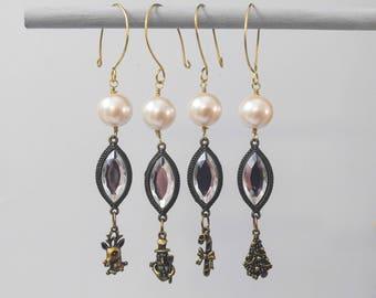 Christmas Charm Ornaments, Set of 4