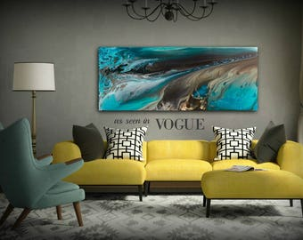 GICLEE PRINTS Art Abstract Painting Coastal Home Decor Modern Canvas Prints Gift Wall Decor LARGE sizes Beach House Art Canvas Art Print