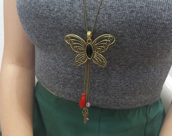 Bohemian jewelry  for women metal necklace butterfly necklaces