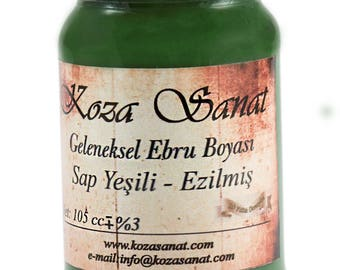 Ebru Marbling Paint Colors-Sap Green 105cc (Koza)
