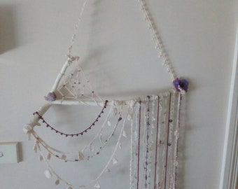 Ooak amethyst dream catcher