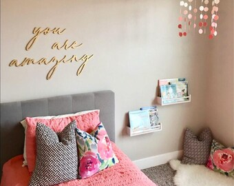 You Are Amazing Wall Decor Wood Cutout, Wooden Word
