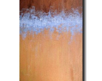 "Original Large Abstract painting- 24 X 48"" artwork  -by Artist JMJartstudio-Wall art - Beyond Means"