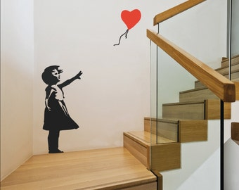 Banksy Balloon Girl Wall Decal
