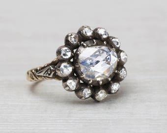 Vintage Dutch Rose-cut Diamond Cluster Ring