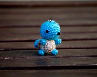 Pokemon amigurumi - Squirtle amigurumi - Amigurumi Squirtle - Key chain Squirtle - Squirtle Key chain - Doll Squirtle - Squirtle plush