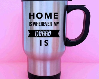 Doggo Gifts Doggo Funny Doggo We Love Our Granddog Funny Doggo Granddog Mug Puppy Animal Lover Animal Lover Grandpuppy Travel Coffee Mug
