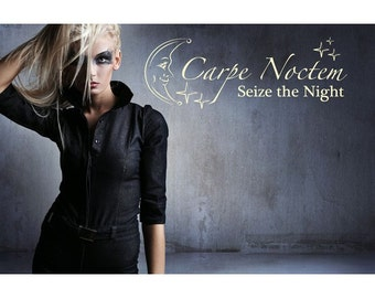 Carpe Noctem wall quote decal, sticker, mural, vinyl wall art saying