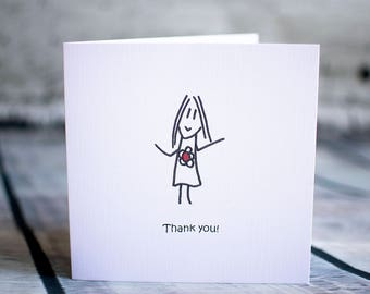 Thank you x10 cards (girl)