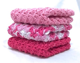 Cotton Crochet Washcloth Set - Slumber Party