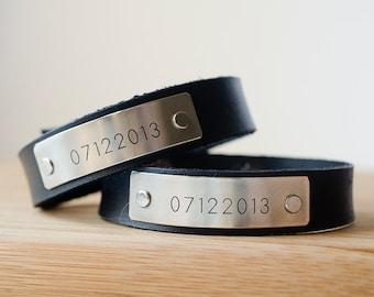 Minimal Custom Date Cuff Set of 2