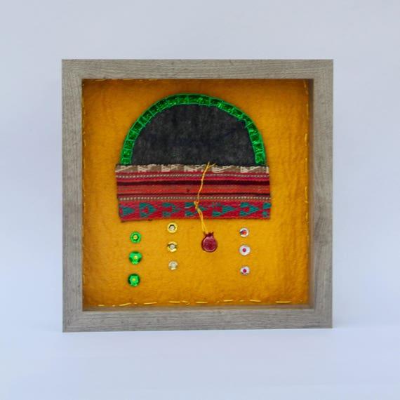 Minimalist fabric jewelry shadow box masooleh european feel