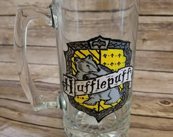 Harry Potter - Hufflepuff - Inspired hand painted stein
