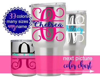 Tumbler Decal Etsy - Vinyl stickers for cups