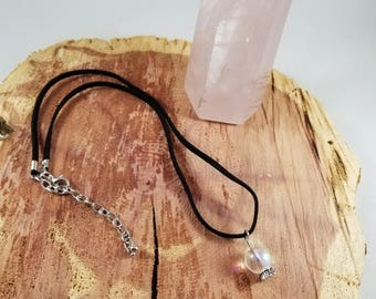 Minimalist, Crystal Ball Choker! ~Boho, Witch, Mystic, Jewelry