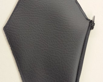 Coffin change purse with zipper