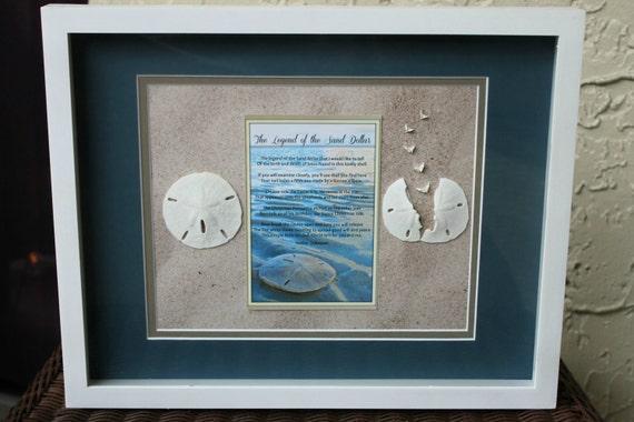 Legend of the Sand Dollar Shadow Box Wall Art 12x15 Beach