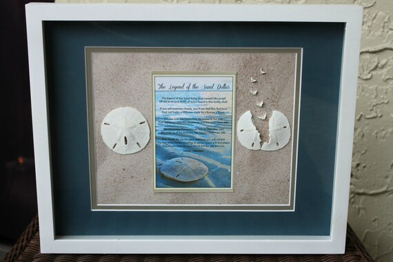 & Legend of the Sand Dollar Shadow Box Wall Art 12x15 Beach