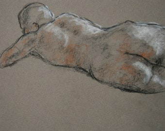 Jay Gesture 71/Figure Drawing/Pastel