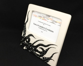 Picture Frame. Octopus Picture Frame. Cephalopod. Sea. Sea Life. 4x6. Handmade by Sara Hunter Designs
