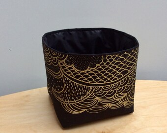Birdingbury Black Fabric Storage Pot