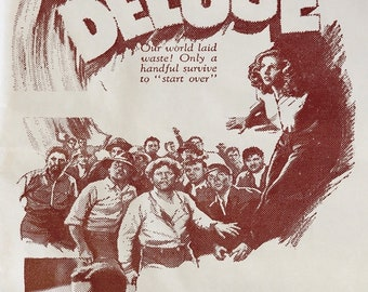 Deluge (1933) Peggy Shannon Sidney Blackmer sci fi cult movie poster reprint 19x12.5 inches