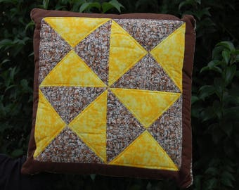 geometric patchwork Cushion cover