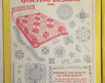 Vintage Aunt Martha's Quilting Designs, Colonial Patterns-3366,3367
