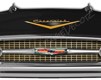 1957 Chevrolet Belair Front End Laser Cutout Sign